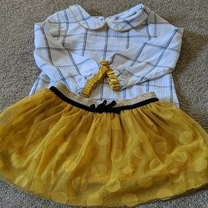 EUC matching skirt outfit